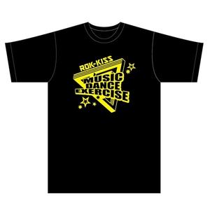 ROK-KISS Tシャツ(黒×黄色)ロゴ(M)