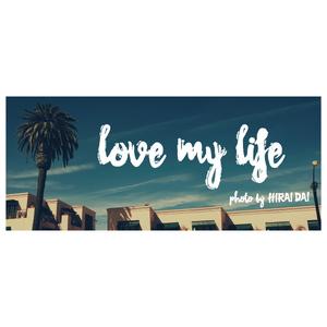 フェイスタオル(Love my life)