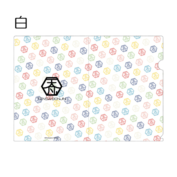 Tenbon monogram clear file folder