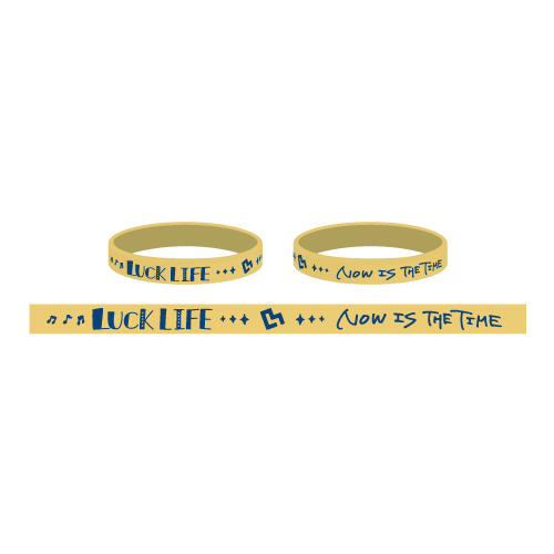 """Now is the time""Rubber Wristband (2kinds)"